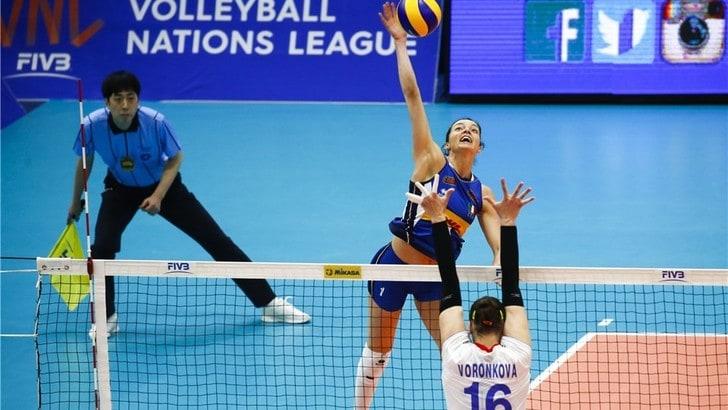 Volley: Volleyball Nations League, l'Italia cede alla Russia