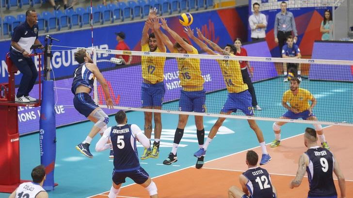 Volley: Volleyball Nations League, impresa Italia, battuto il  Brasile