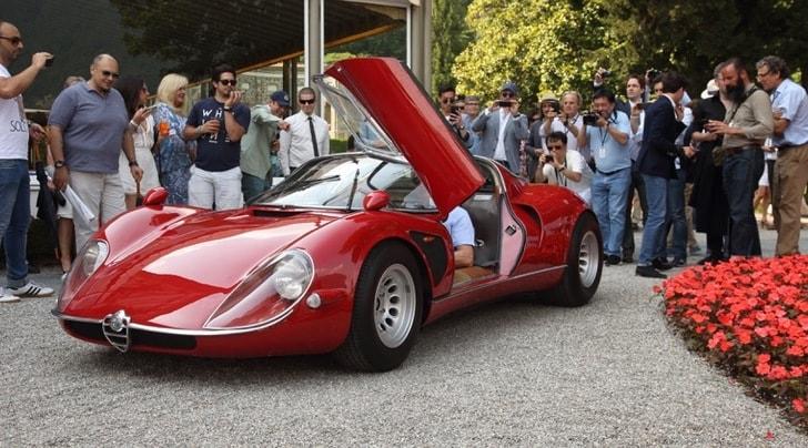 Alfa Romeo 33 Stradale, la più della del reame a Villa d'Este