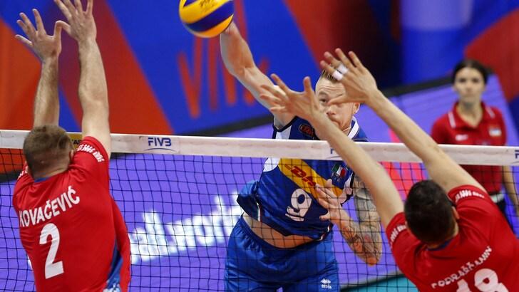 Volley: Volleyball Nations League, Italia show, battuta anche Serbia
