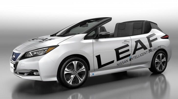 Nissan Leaf Open Air, l'elettrica diventa cabrio
