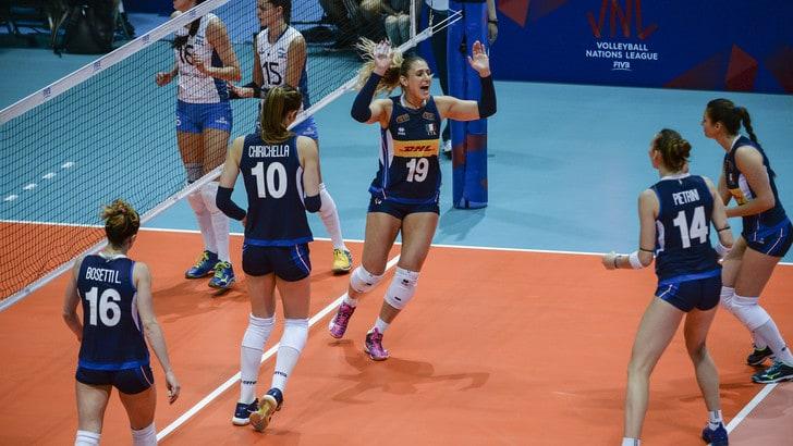 Volley: Volleyball Nations League, l'Italia domina la sfida con l'Argentina