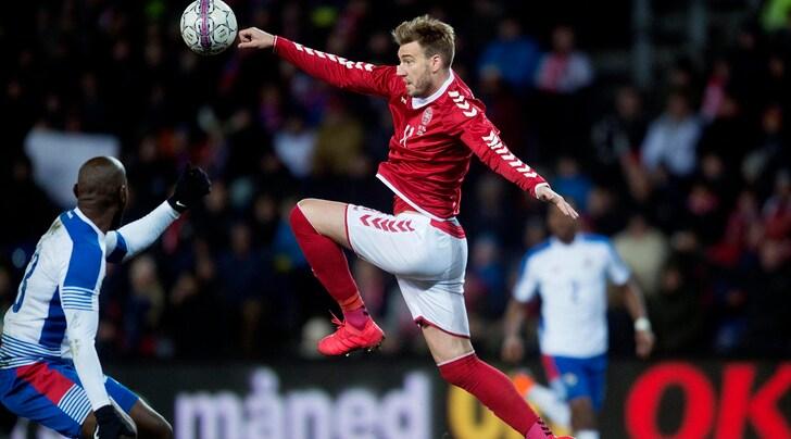 Mondiali 2018, i convocati della Danimarca: fuori Bendtner, c'è Cornelius