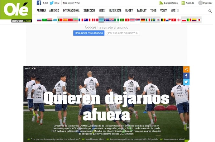 Allarme in Argentina: «Vogliono lasciarci fuori dal Mondiale»