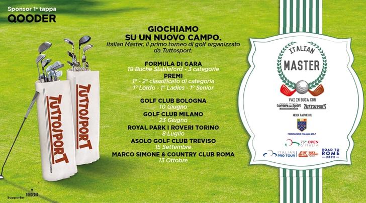 Italian Master, parte il primo torneo di golf promosso da Tuttosport