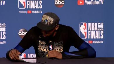 Beffato Curry, MVP a KD che al reporter dice...