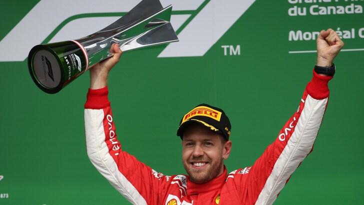 F1 Canada, Vettel: «E' stata una gara perfetta»