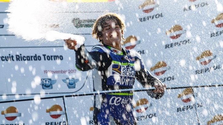 Moto3, il giovane Andreas Perez non ce l'ha fatta