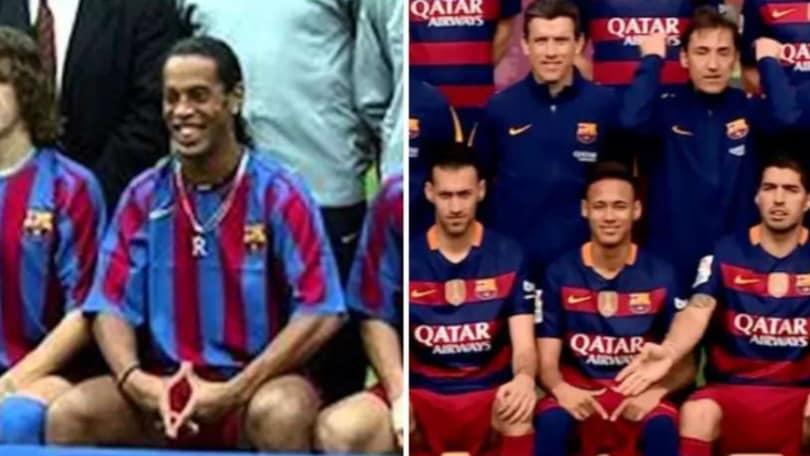Marocco, Achraf come Ronaldinho! Il gesto nella foto di gruppo è virale