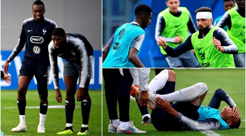 Sessione di allenamento movimentata per la squadra di Deschamps, che si gode però la carica di Pogba e dello juventino Matuidi