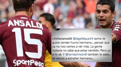 Torino, Ansaldi a Iago Falque: «Ti hanno venduto, fratello!»