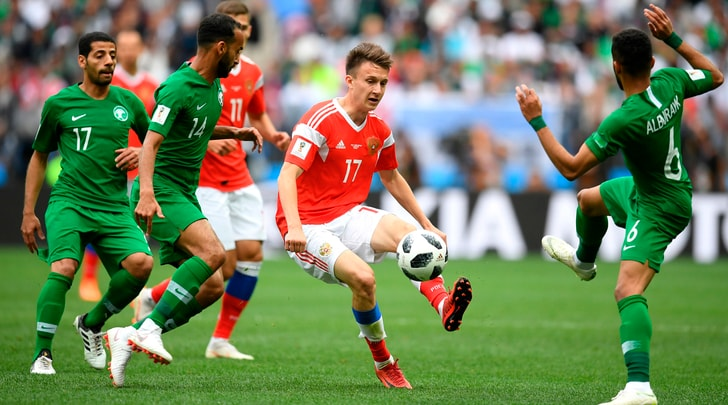 Mondiali, Russia-Arabia Saudita 5-0: Golovin show al debutto