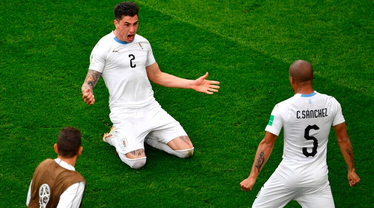 Mondiali, Egitto-Uruguay 0-1: Gimenez gol, esulta Tabarez al 90'