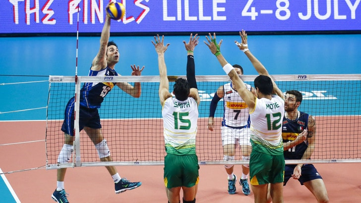 Volley: Volleyball Nations League, l'Australia sgambetta l'Italia