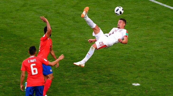 Costa Rica-Serbia 0-1: decide Kolarov. Milinkovic-Savic show: che rovesciata!