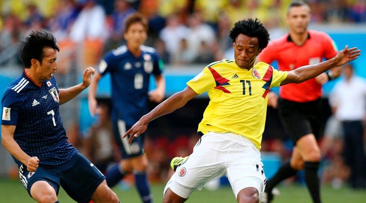 Colombia-Giappone 1-2: Cuadrado out dopo 31'