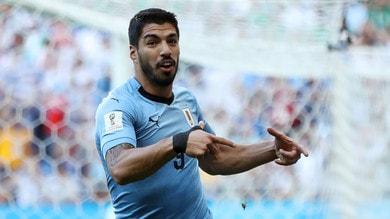 Suarez trascina l'Uruguay e festeggia così il gol all'Arabia Saudita