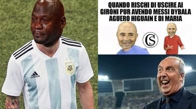 """Argentina, il ko è clamoroso. Ironia social: """"Messi...male!"""""""