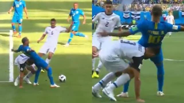Brasile-Costa Rica, il Var nega il rigore a Neymar