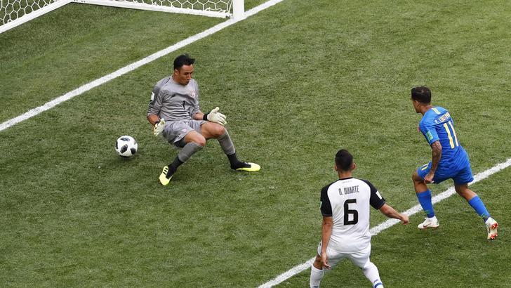 Mondiali: Brasile-Costarica 2-0