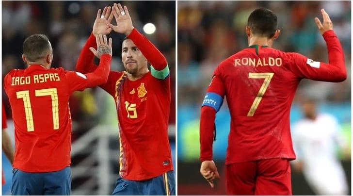 Russia 2018: Iran-Portogallo 1-1, Spagna-Marocco 2-2