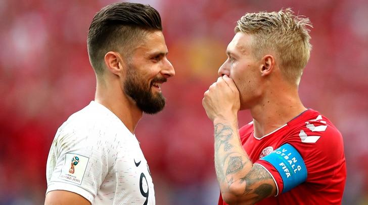Danimarca-Francia 0-0, Deschamps eHareide avanti insieme. Bleus primi