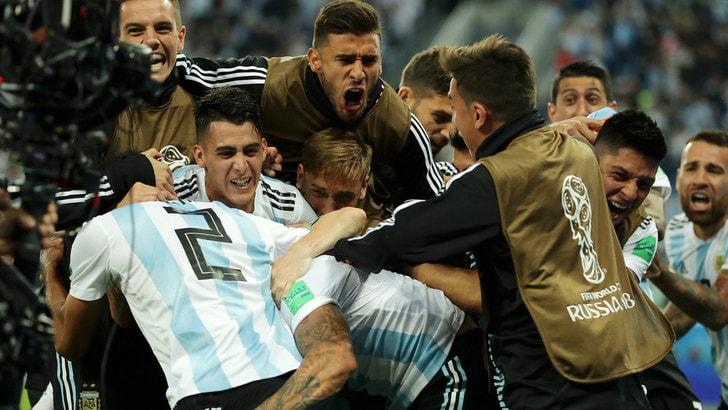 Mondiali 2018, Argentina-Nigeria 2-1, Islanda-Croazia 1-2