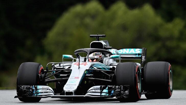 F1 Austria, libere 1: Hamilton vola, Vettel 4°