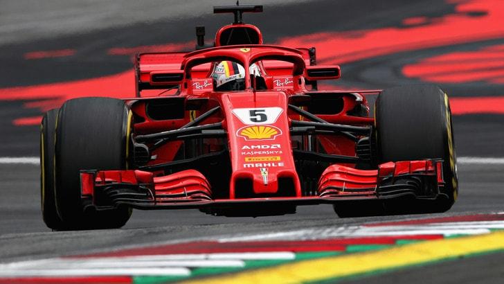 F1 Austria, libere 3: Vettel è il più veloce di tutti