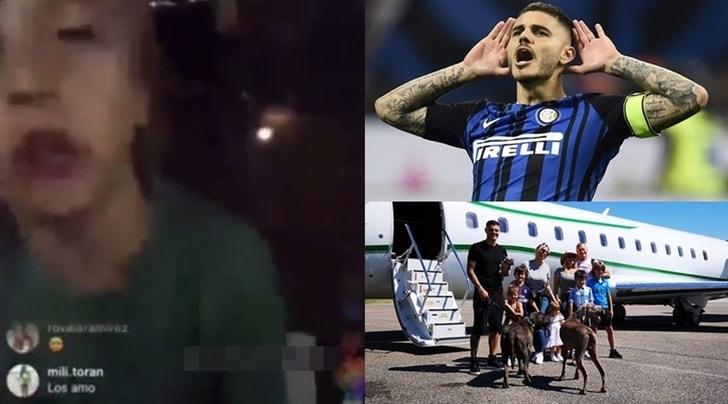 Wanda Nara, il figlio a un tifoso della Juventus: «Icardi resta all'Inter»