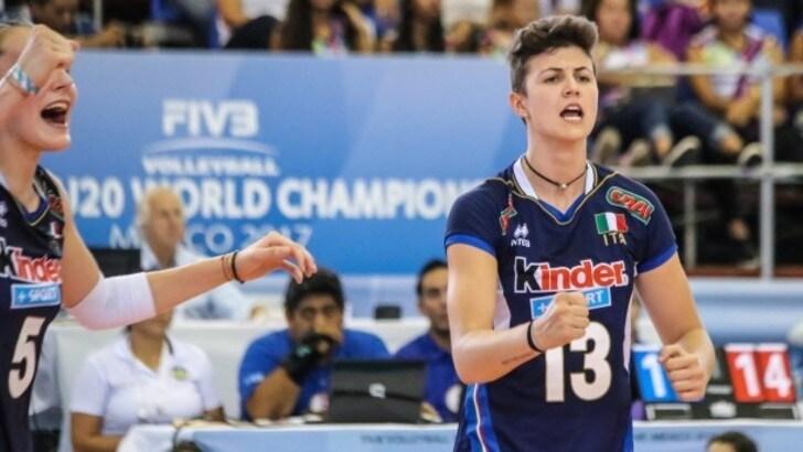 Volley A2 femminile: Il giovane martello Giulia Melli a Caserta