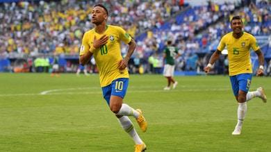 Mondiali 2018, Brasile-Messico 2-0: decidono Neymar e Firmino