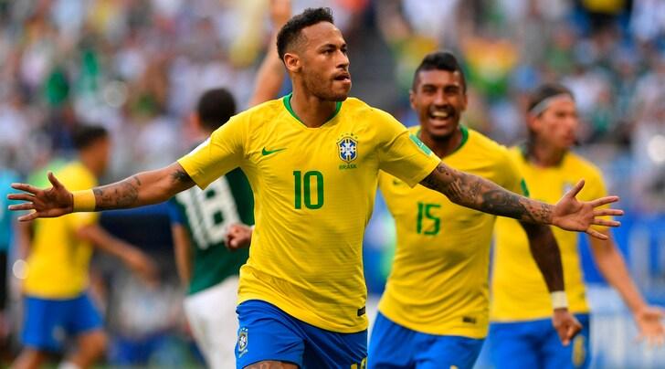 Brasile-Messico 2-0: Neymar e Firmino trascinano la Seleçao ai quarti