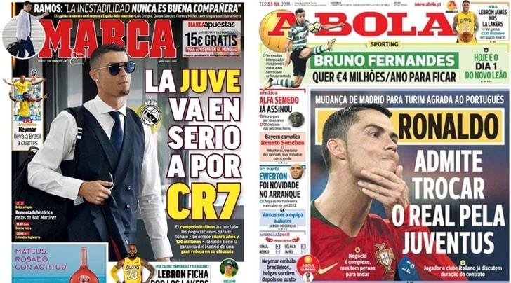 Conferme dall'estero: «La Juventus fa sul serio per Cristiano Ronaldo!»