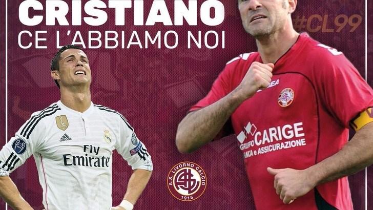 Calciomercato Livorno, il club scherza su Ronaldo: «L'unico Cristiano è Lucarelli»