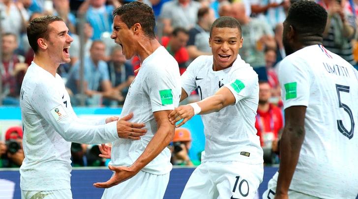 Uruguay-Francia0-2: Varane e Griezmann portano Deschamps in semifinale