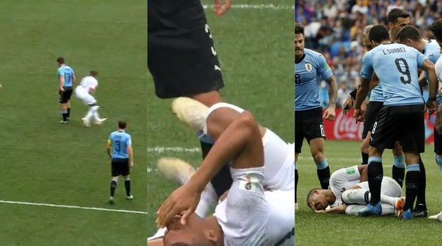 Francia-Uruguay, Mbappé imita Neymar: che sceneggiata!