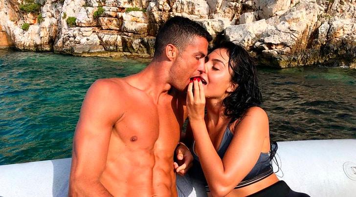 Cristiano Ronaldo, le coccole di Georgina prima della Juventus