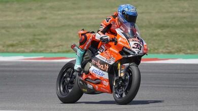 SBK Aruba.it – Ducati, Melandri: «Deluso per l'errore, ma è andata bene»