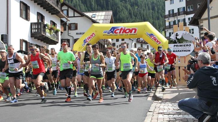 Spettacolo alla Primiero Dolomiti Marathon