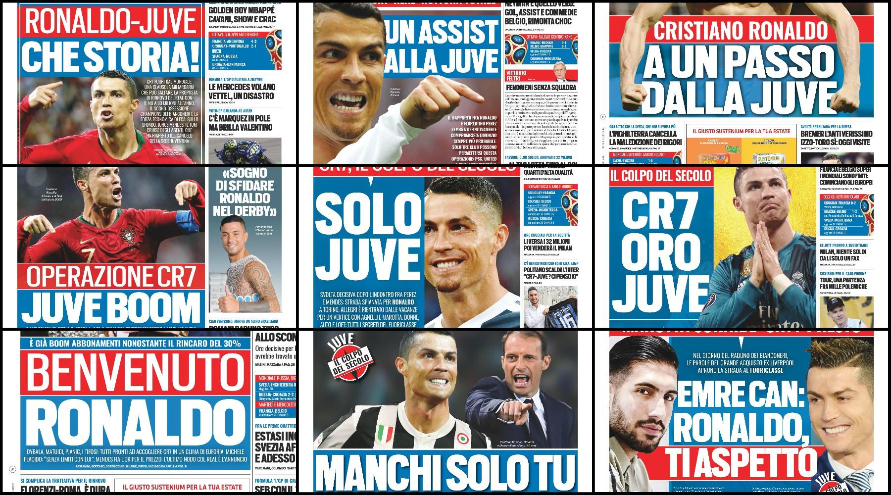Ronaldo-Juve, la cronologia del colpo su Tuttosport