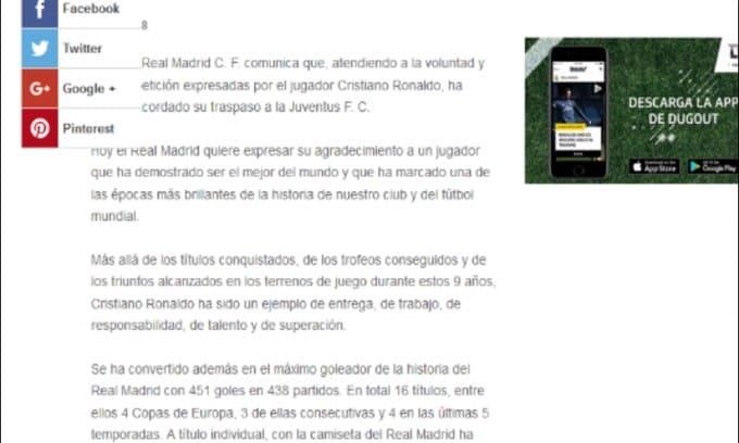 Ufficiale, Cristiano Ronaldo è un nuovo giocatore della Juventus
