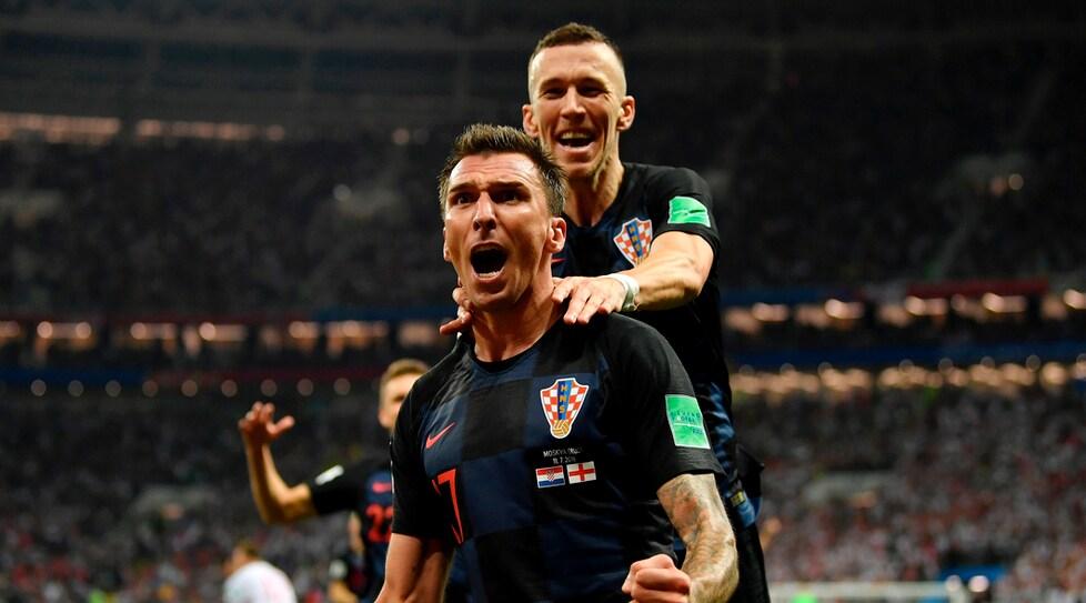 Le immagini della semifinale tra le nazionali di Southgate e Dalic: gli inglesi sbloccano il risultato al 5' con Trippier, al 68' Perisic pareggia. Poi al 109' l'attaccante della Juventus realizza la rete che qualifica per la prima volta i croati in finale