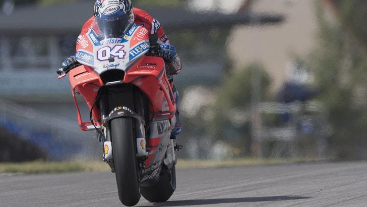 MotoGp Germania, Libere4: bene Dovizioso, Rossi è 9°