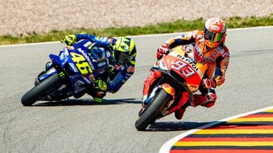 MotoGp Germania, Marquez: «Rossi è troppo forte e non molla mai»