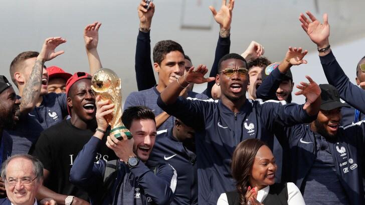 Francia, l'accoglienzaa Parigi per la vittoria del Mondiale