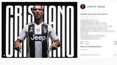Ronaldo alla Juve: il post su Instagram è il quarto di sempre