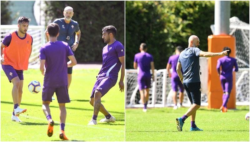 Fiorentina, la viola si allena in attesa di Gerson