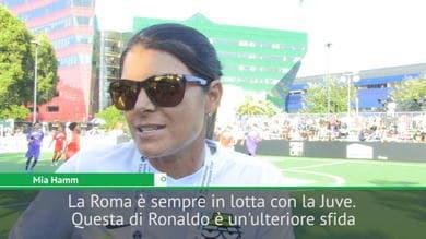 """Mia Hamm e la sua Roma: """"CR7? Risponderemo"""""""