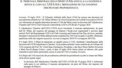Ufficiale: il Milan è in Europa League